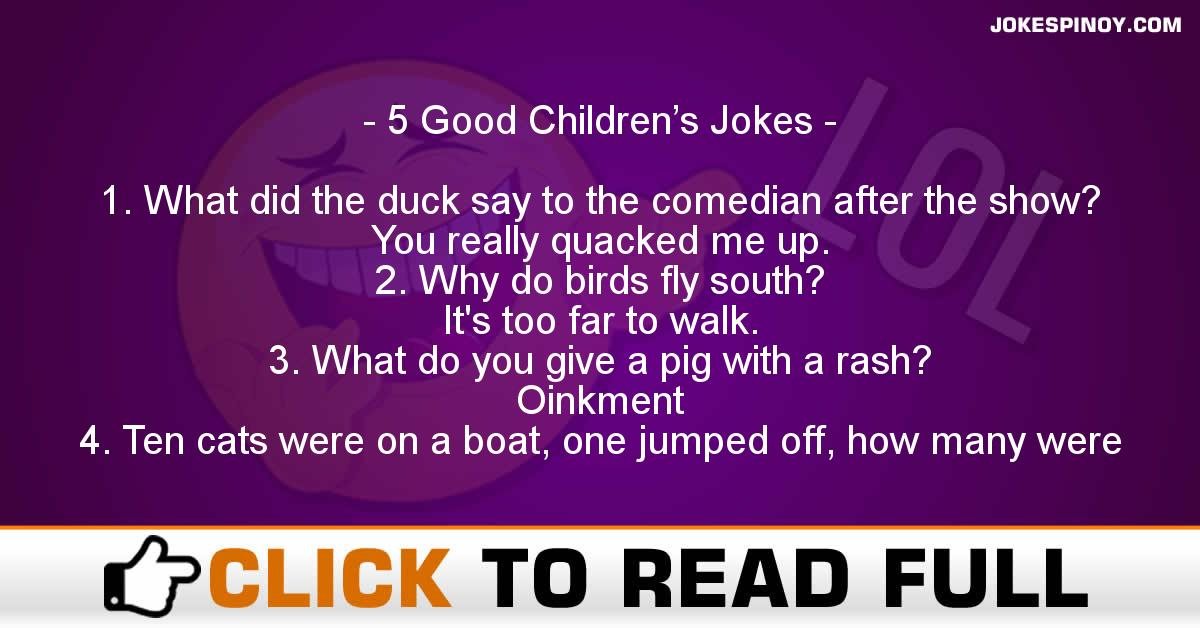 5 Good Children's Jokes