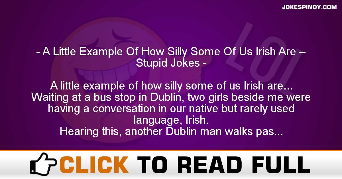 A Little Example Of How Silly Some Of Us Irish Are – Stupid Jokes