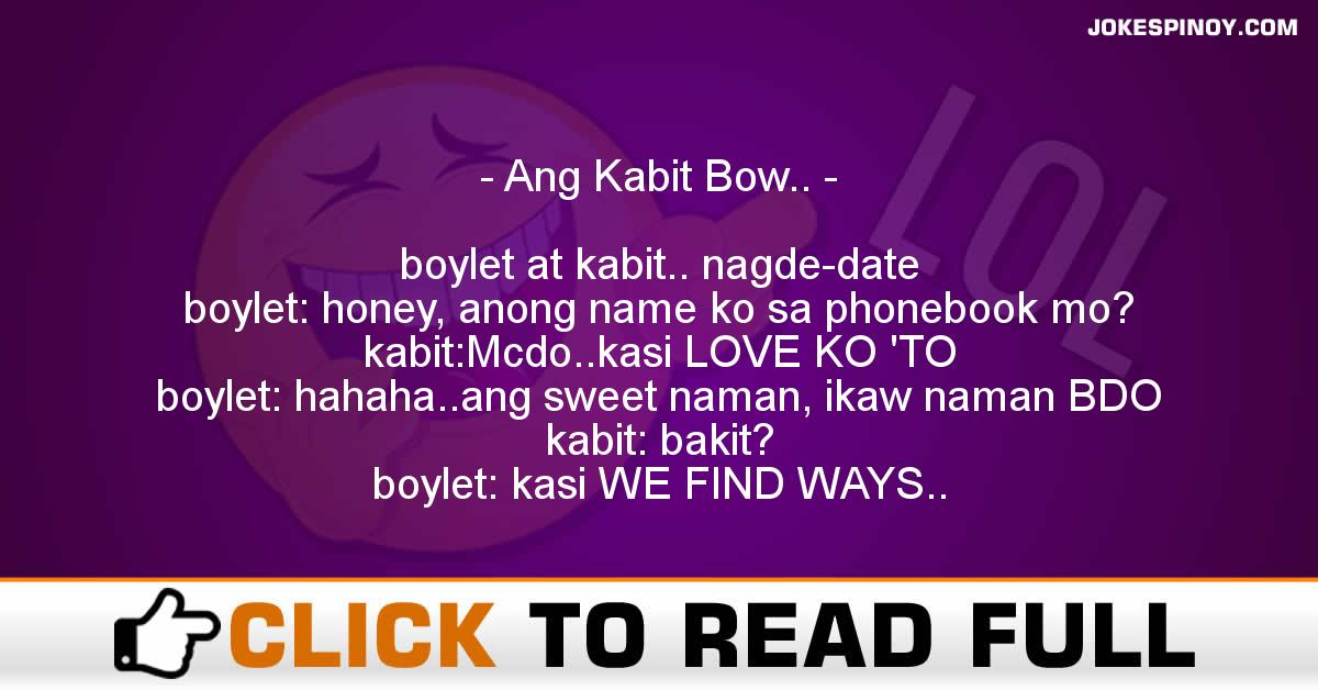 Ang Kabit Bow..
