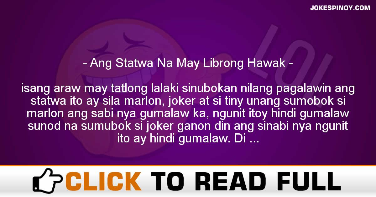 Ang Statwa Na May Librong Hawak