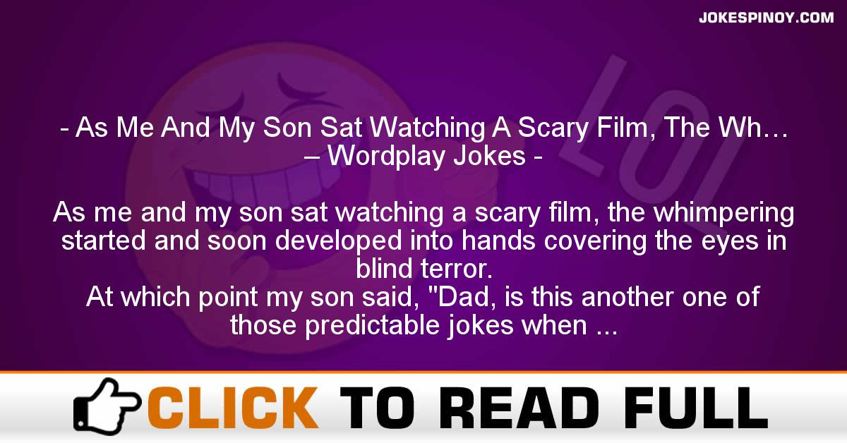 As Me And My Son Sat Watching A Scary Film, The Wh… – Wordplay Jokes