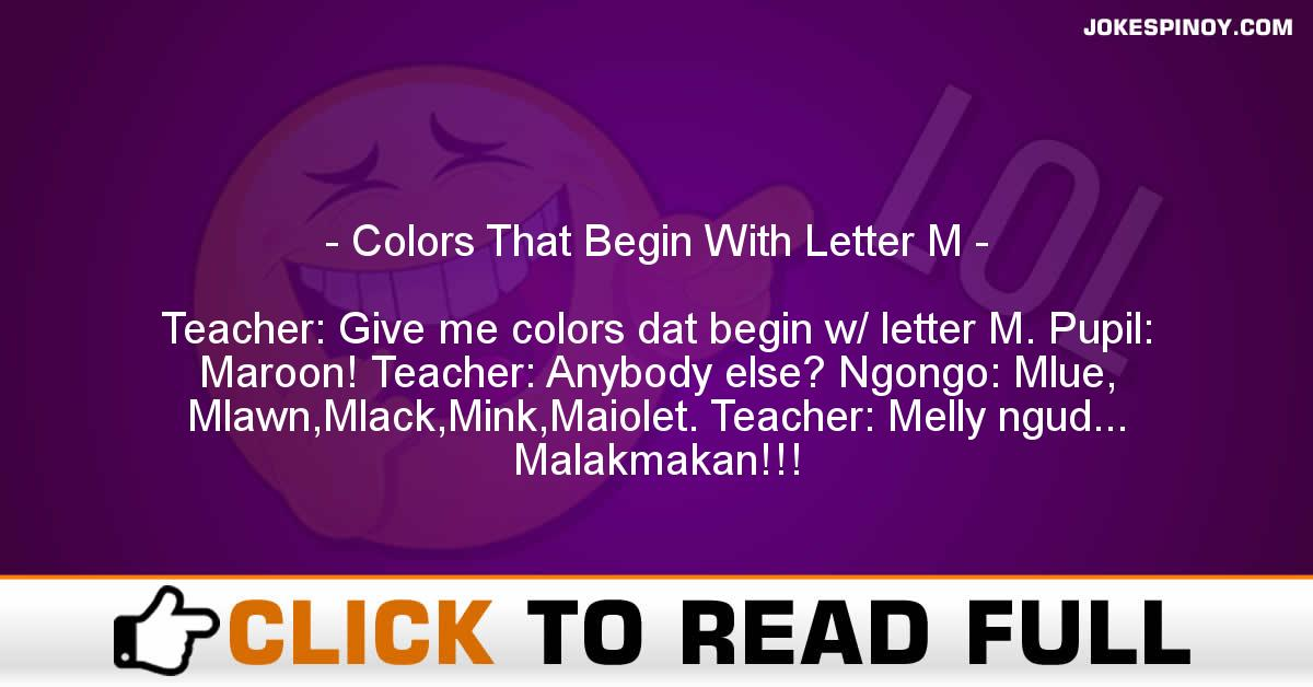 Colors That Begin With Letter M