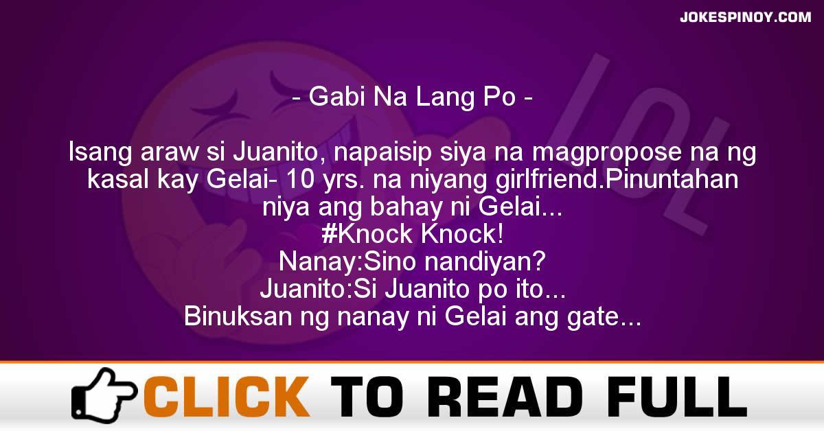 Gabi Na Lang Po