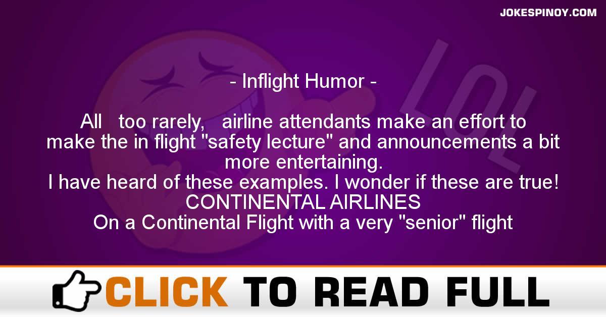Inflight Humor