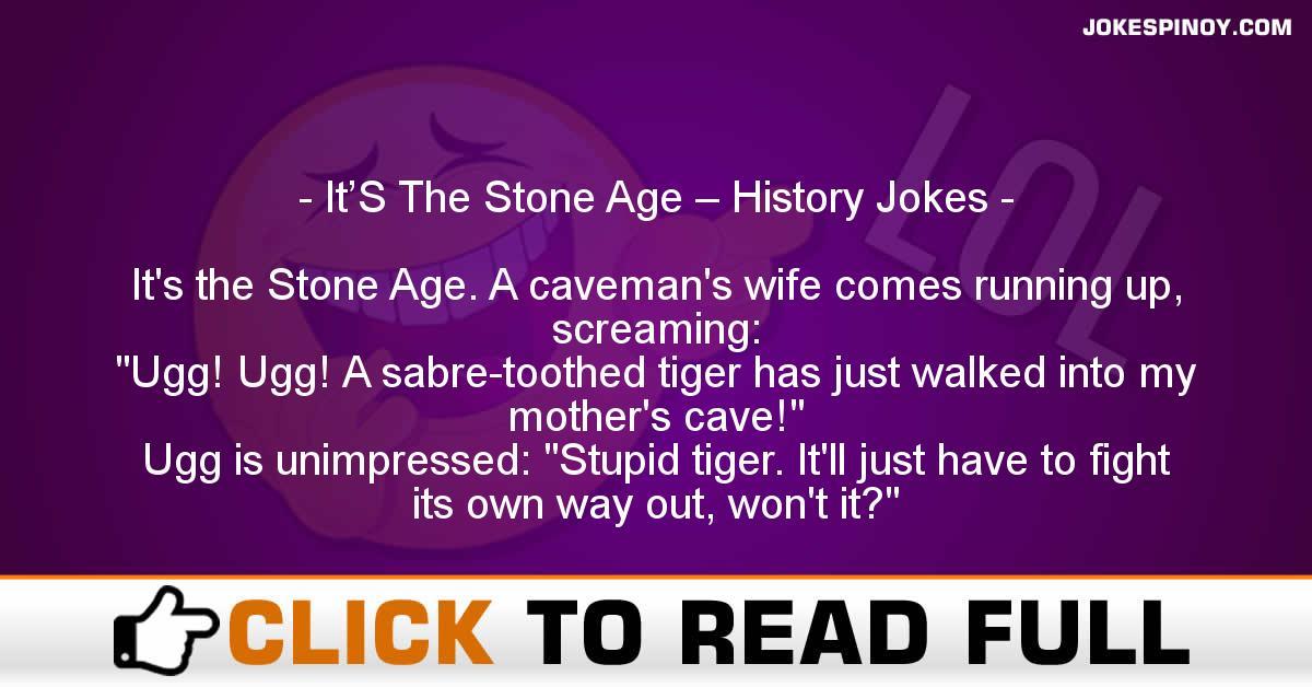 It'S The Stone Age – History Jokes