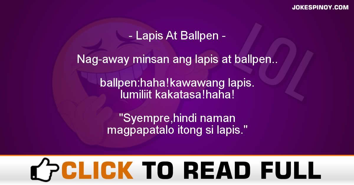 Lapis At Ballpen
