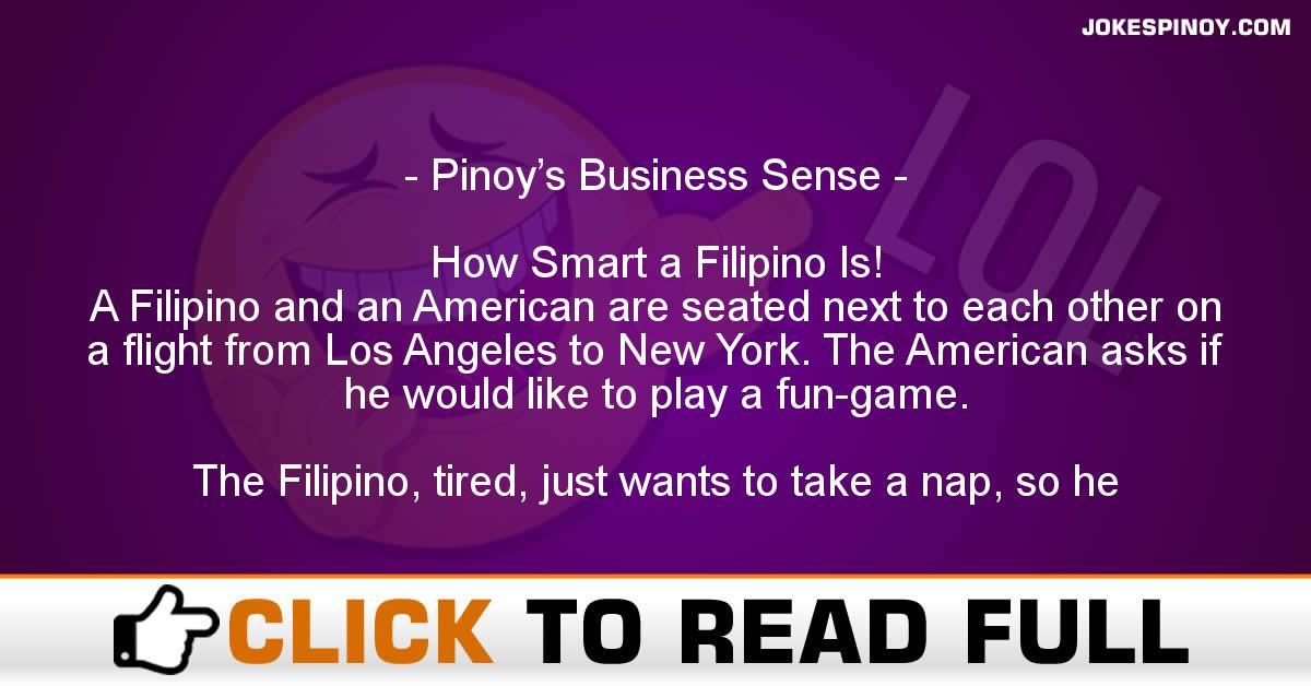 Pinoy's Business Sense