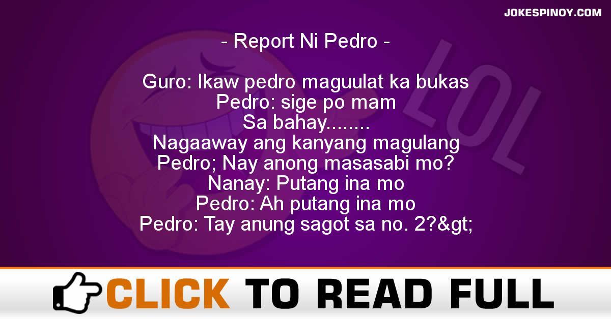 Report Ni Pedro