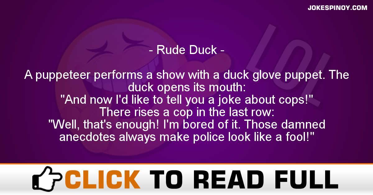 Rude Duck