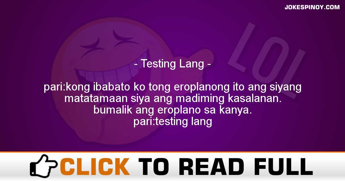 Testing Lang