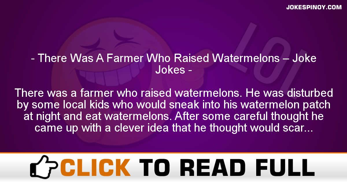 There Was A Farmer Who Raised Watermelons – Joke Jokes