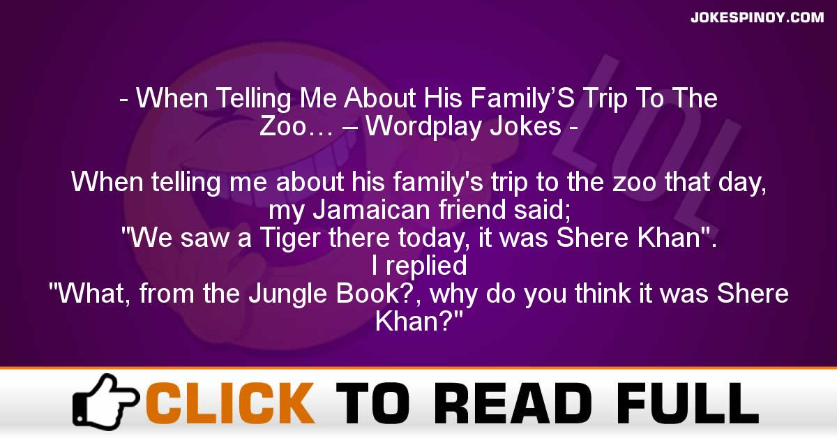 When Telling Me About His Family'S Trip To The Zoo… – Wordplay Jokes