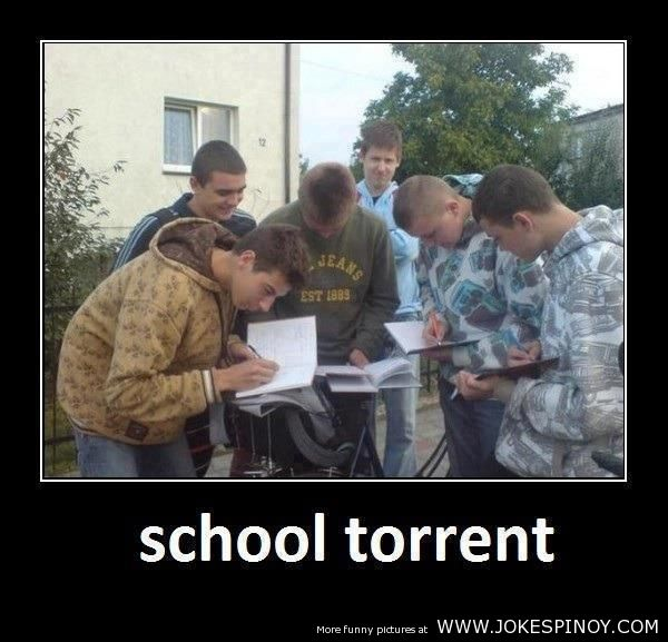 School Torrent Funny Picture