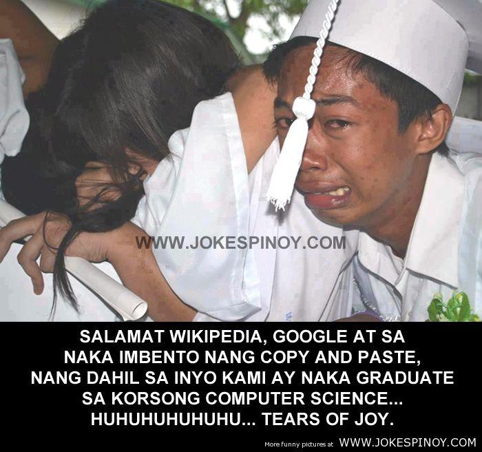 Salamat WikiPedia Google at Copy Paste