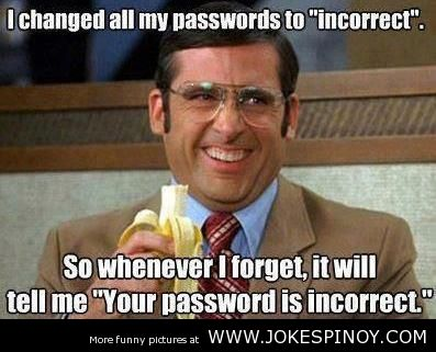 Incorrect Password - IT Joke