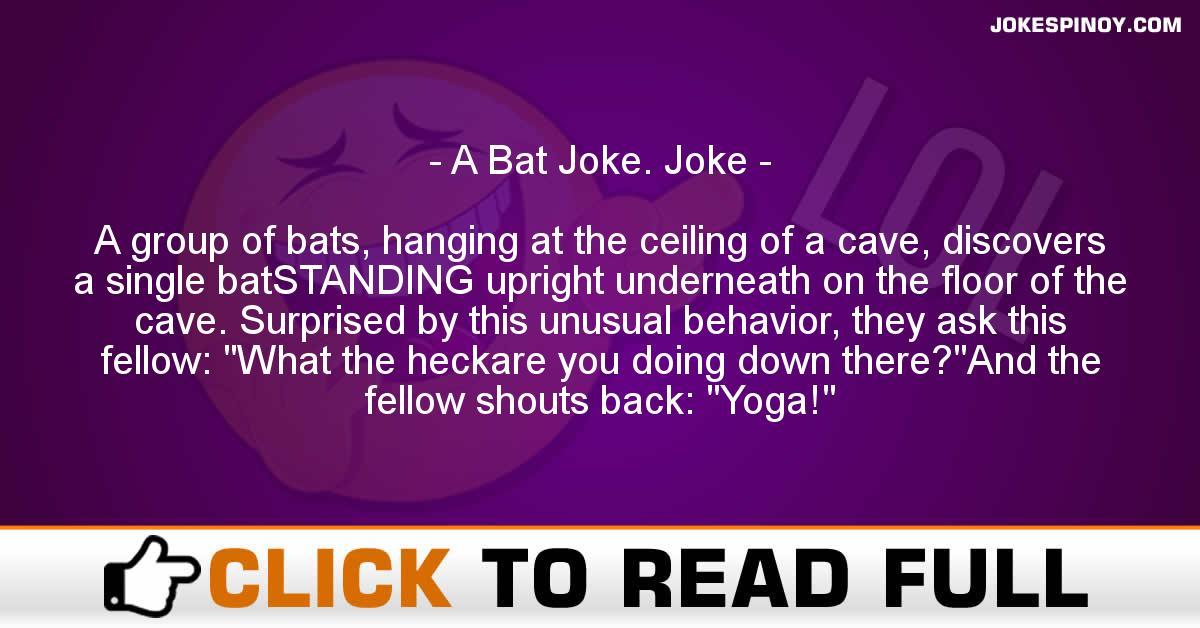 A Bat Joke. Joke