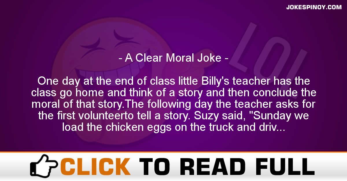 A Clear Moral Joke