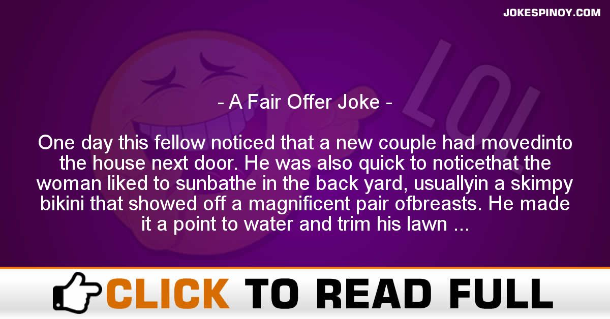 A Fair Offer Joke