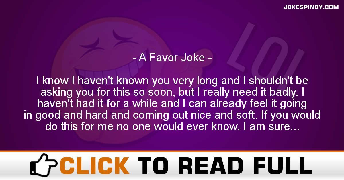 A Favor Joke