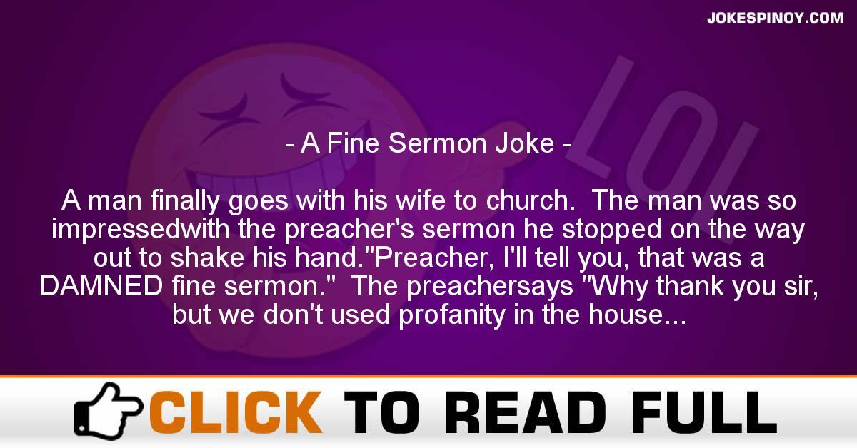 A Fine Sermon Joke