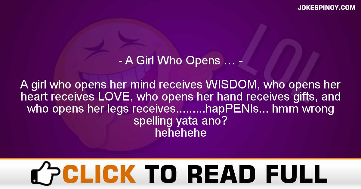 A Girl Who Opens …