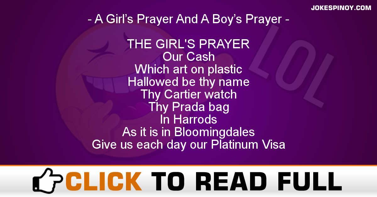 A Girl's Prayer And A Boy's Prayer
