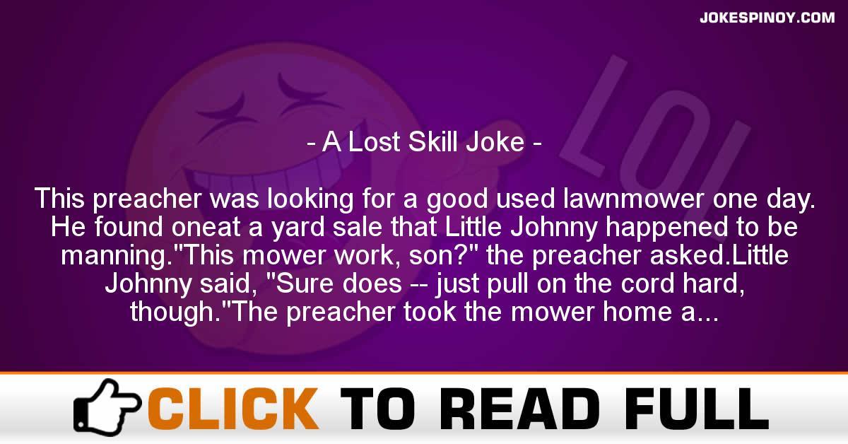 A Lost Skill Joke