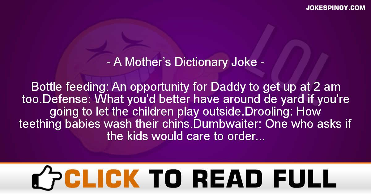 A Mother's Dictionary Joke
