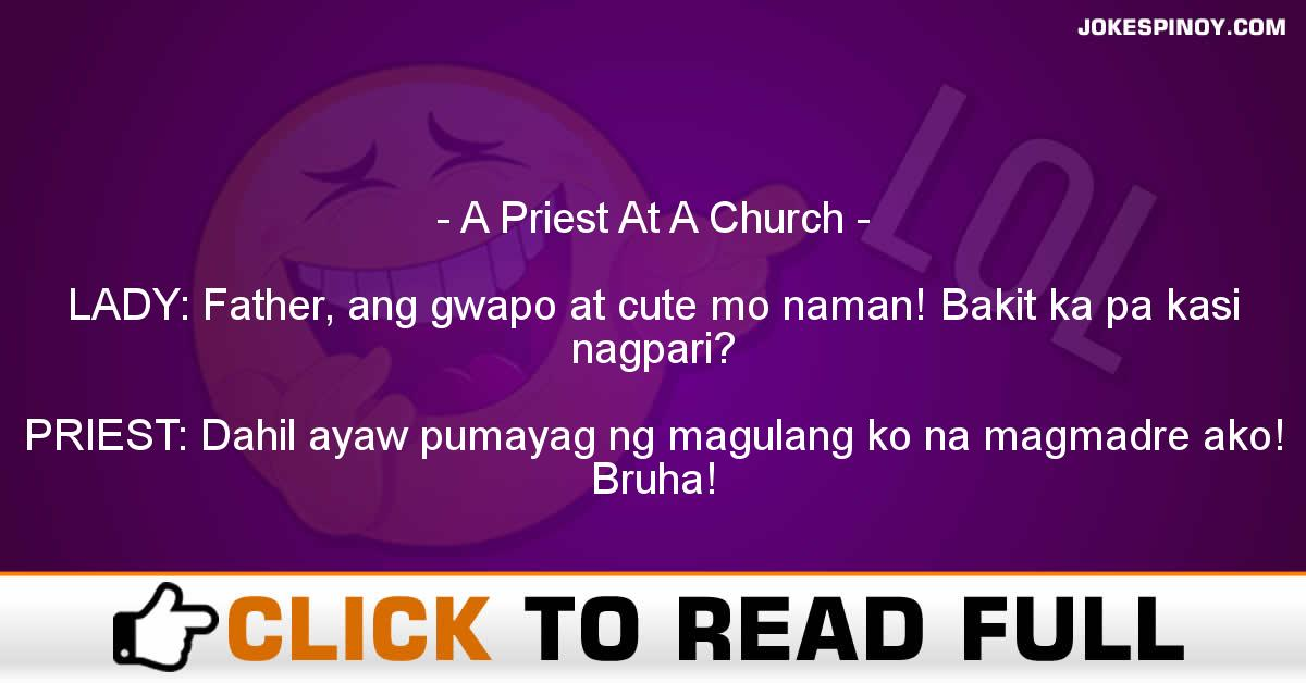 A Priest At A Church