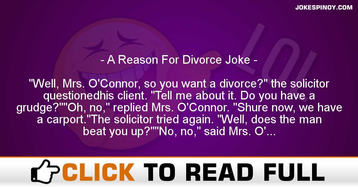 A Reason For Divorce Joke