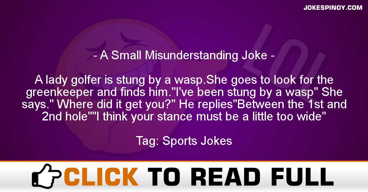 A Small Misunderstanding Joke