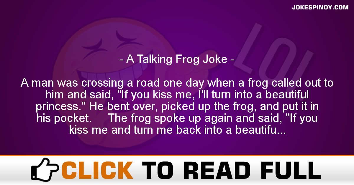 A Talking Frog Joke