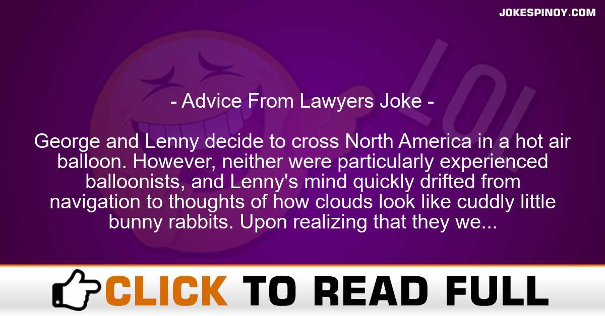 Advice From Lawyers Joke