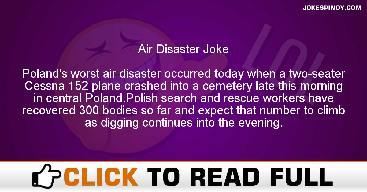 Air Disaster Joke