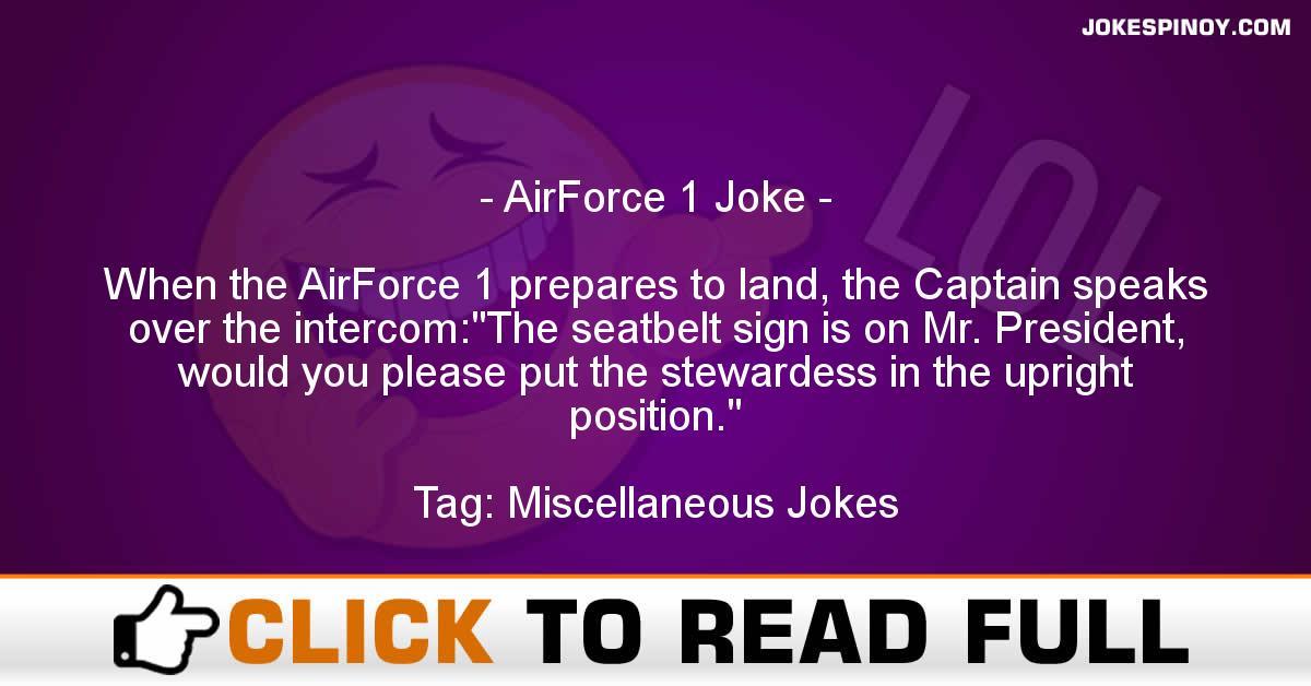 AirForce 1 Joke