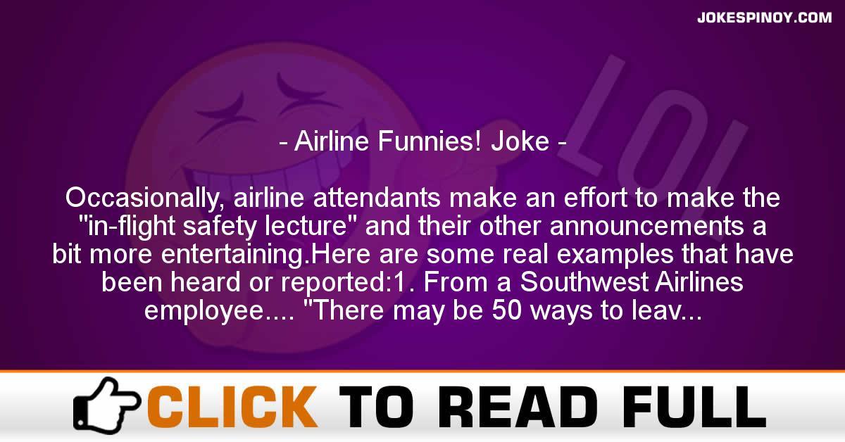 Airline Funnies! Joke