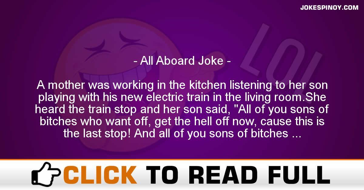 All Aboard Joke