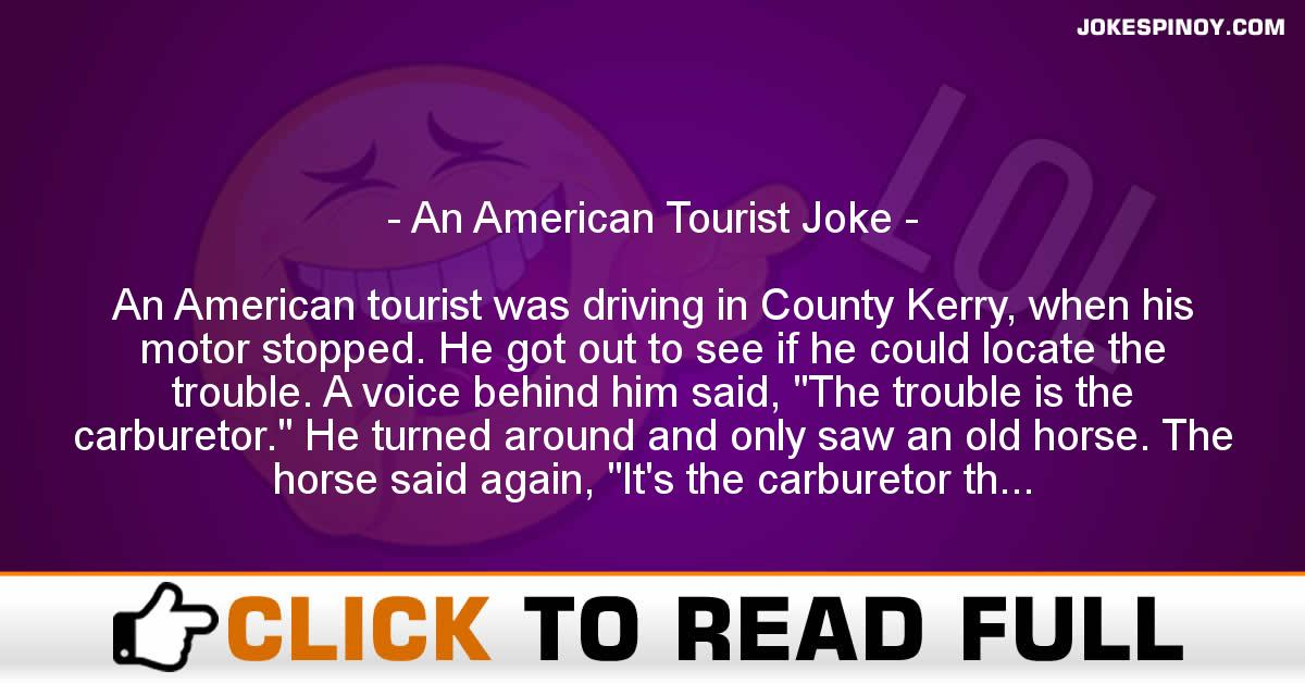 An American Tourist Joke