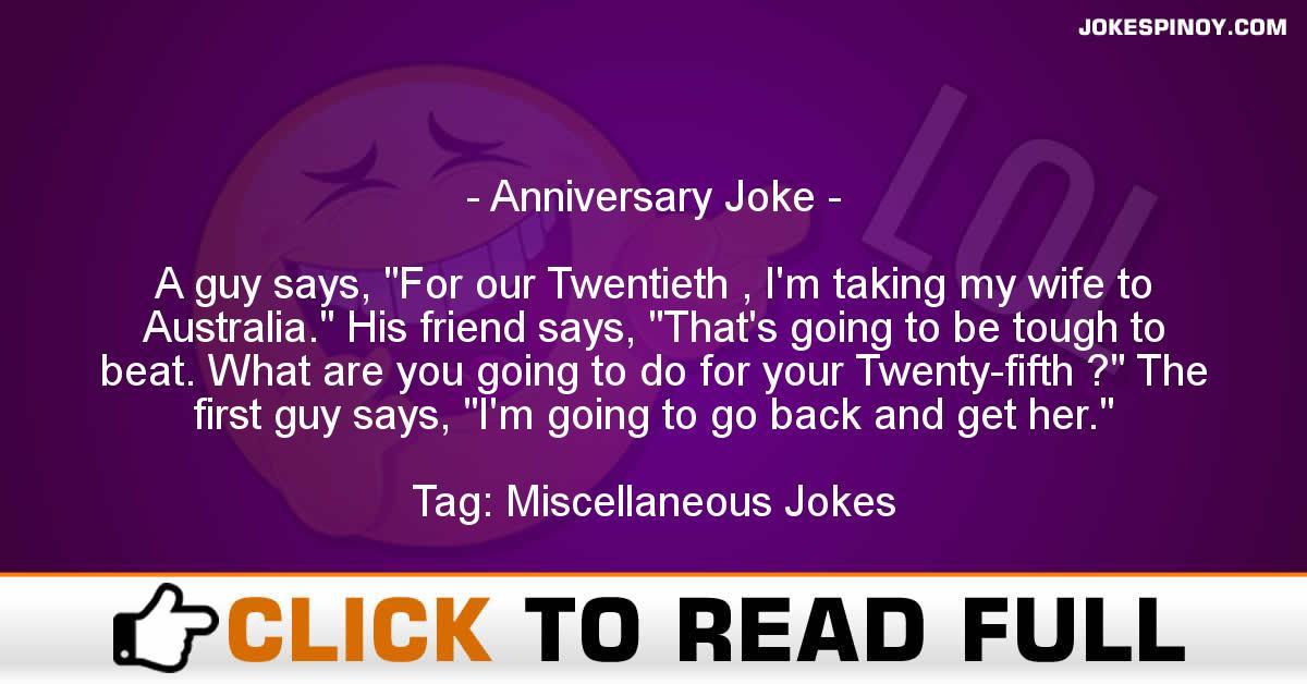 Anniversary Joke