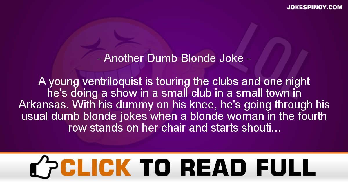 Another Dumb Blonde Joke