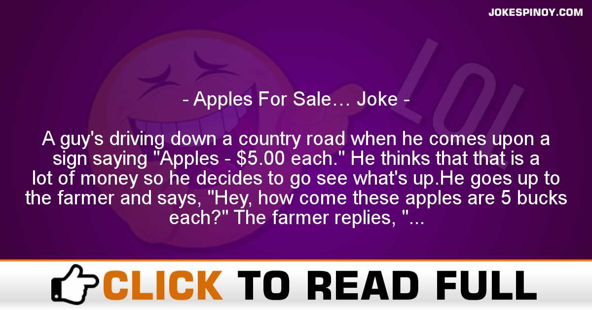 Apples For Sale… Joke