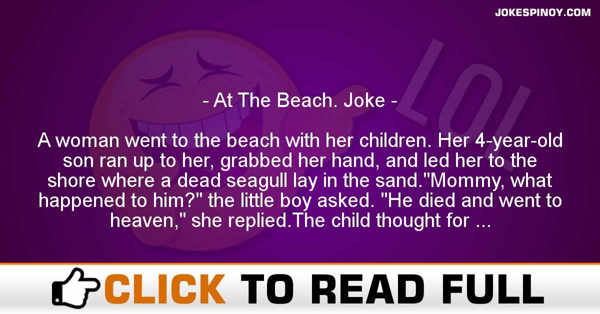 At The Beach. Joke