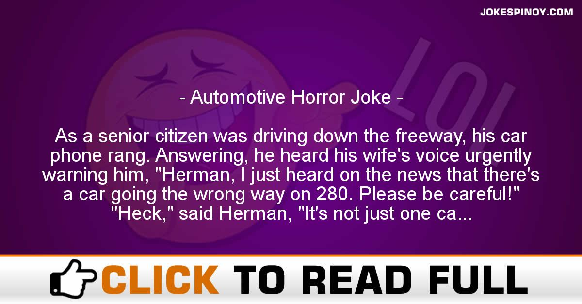 Automotive Horror Joke