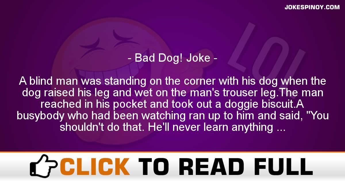 Bad Dog! Joke
