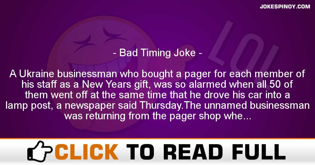 Bad Timing Joke
