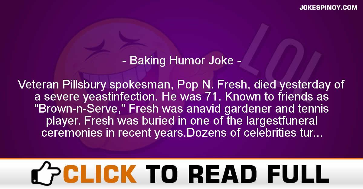Baking Humor Joke