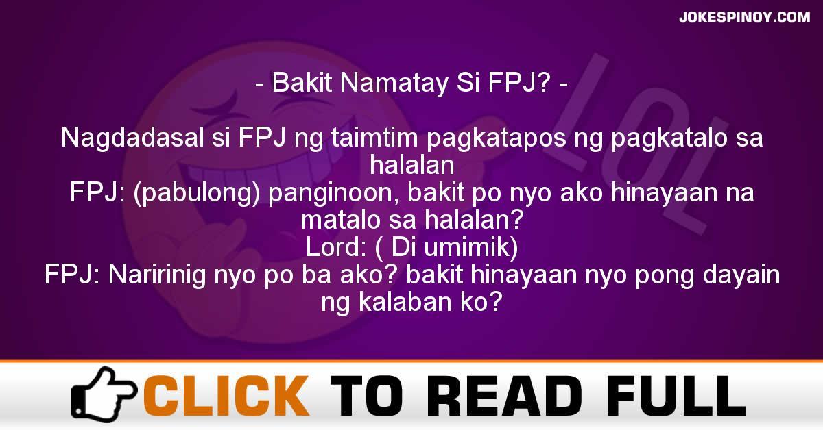Bakit Namatay Si FPJ?
