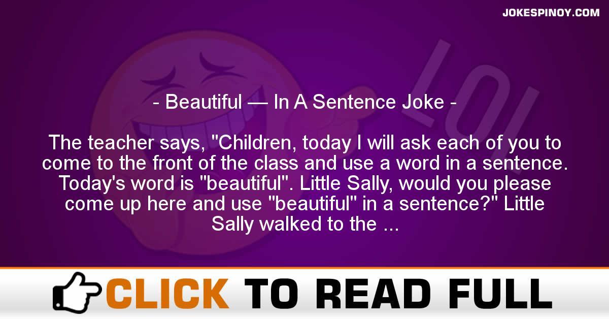Beautiful — In A Sentence Joke