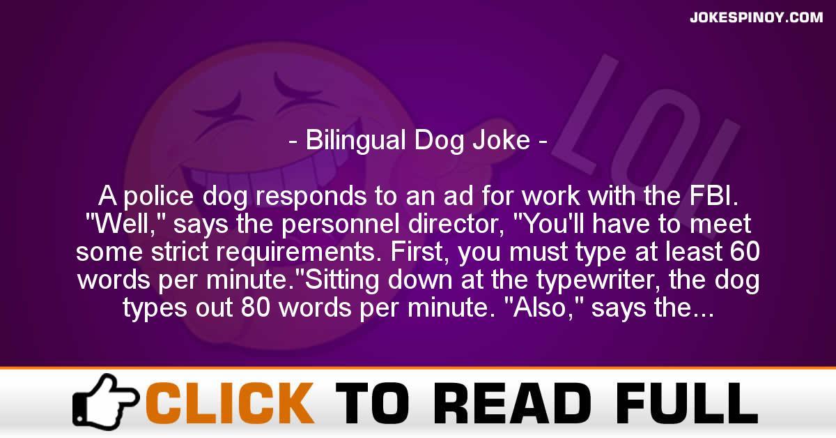 Bilingual Dog Joke