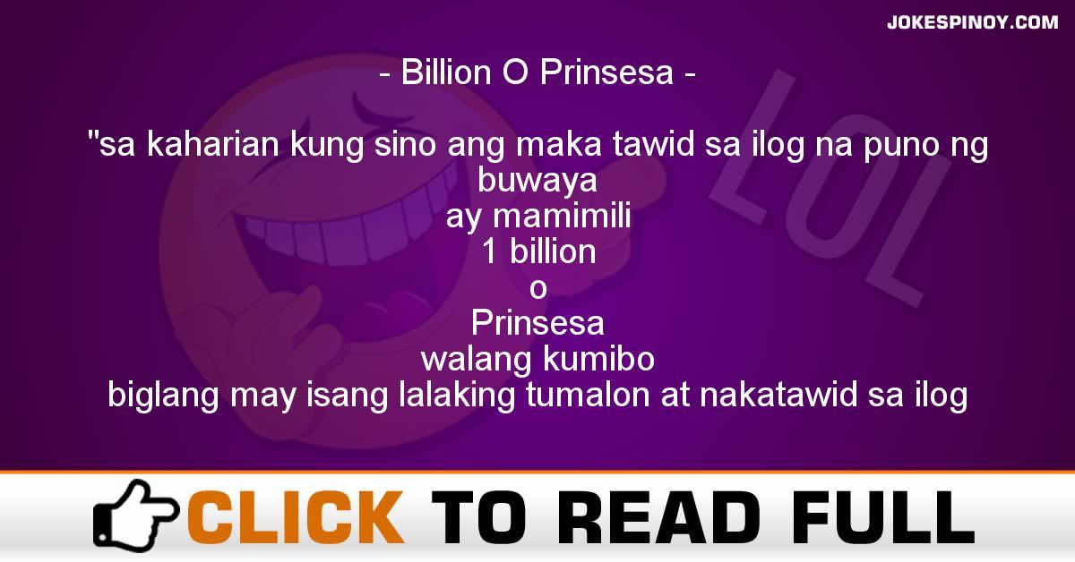Billion O Prinsesa